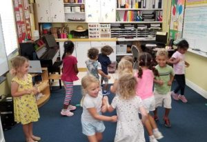 Dancing and learning about tempo.