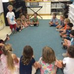 "Singing ""Baby Shark"" for our friends."