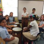 The Grade 5s with the Cuban congas!