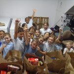 LED donated almost 100 pounds of food!