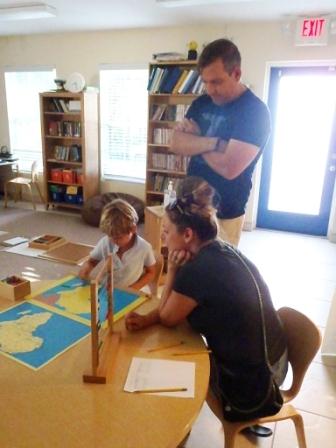 Montessori Parent Mornings in Lower Elementary