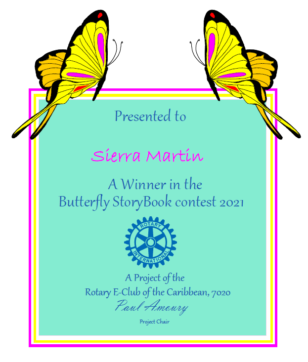MBTS Writer Shines in 2021 Rotary Butterfly Story Project